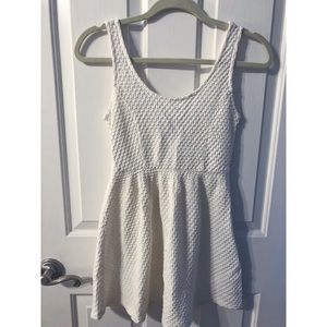 Forever 21 Basketweave Pattern Fit and Flare Dress